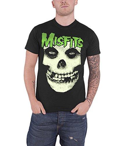 Misfits T Shirt Jarek Skull Glow in the Dark Band Logo Oficial de los hombres