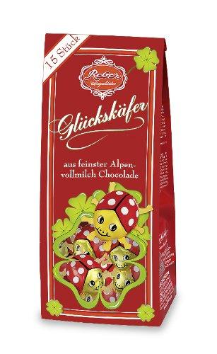 Reber Glückskäfer-Beutel, Alpenmilch-Schokolade, Tolles Geschenk, 15er-Beutel