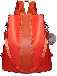 Miss Lulu Damen Rucksäcke Klein Anti Diebstahl Handtasche Casual Daypack für Damen Mädchen M (Orange)