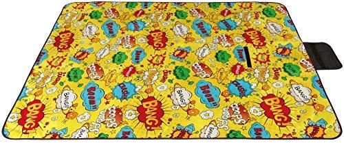 Picknickdecke wasserabw. mit Fotodruck, Auswahl: Größe - 200x200 cm Design - Comic, Stranddecke Kofferraumunterlage Campingdecke