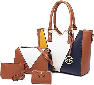 YeumouG Bolsos de Mujer Bolsos Bandolera mujer Grande PU Cuero Bolsos de Hombro Mujer Multicolor Bolso Verano Shopper Trab...