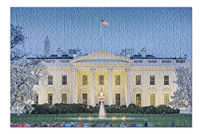 Washington DC - White House at Night 9028497 (Premium 500 Piece Jigsaw Puzzle for Adults, 13x19, Made in USA!)
