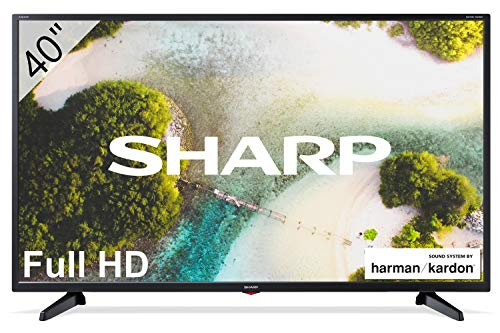 Sharp 40CF3E - 2020 TV FHD de 40' - TV 40 Pulgadas - (resolución 1920 x 1080, 3X HDMI, 2X USB) Color Negro