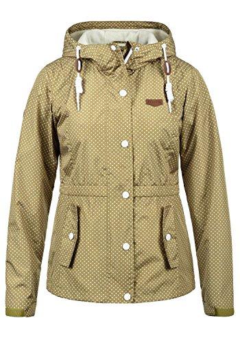 DESIRES Toni Damen Windbreaker Übergangsjacke Regenjacke Mit Kapuze Und Punkte-Muster, Größe:XXL, Farbe:Sand (4073)