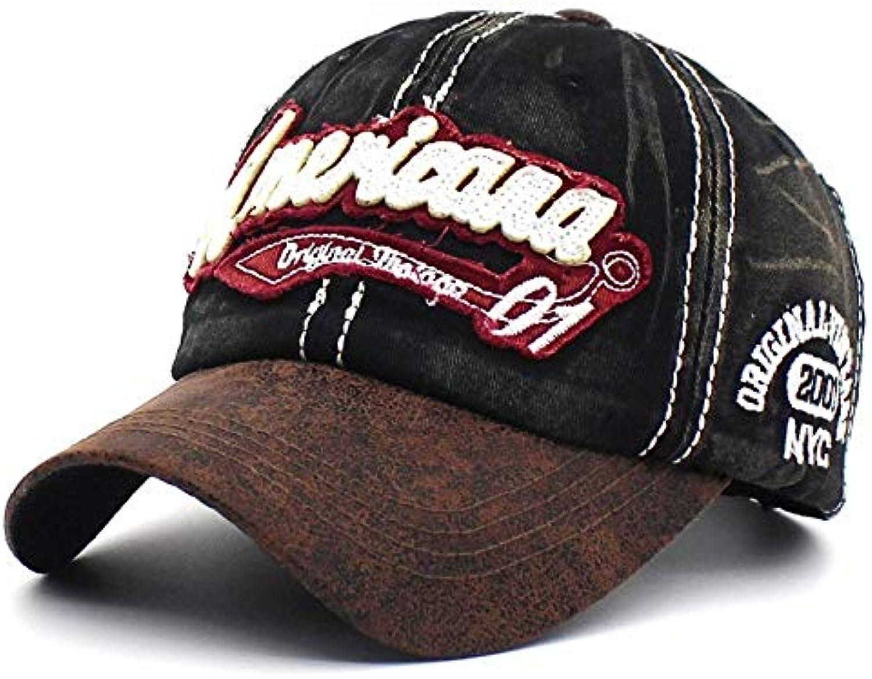 AAMOUSE Retro Washedbaseball Cap Hat for Men Bone Women Vintage Outdoor C Letter Cap