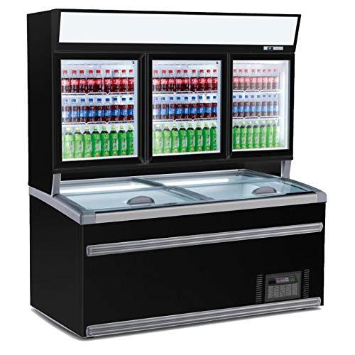 Combisteel - Vitrina refrigerada de pared libre servicio negro - 2 o...