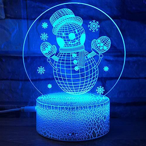 Powzz ornament Navidad 3D noche luz de ensueño grieta al azar USB colorido toque led luces