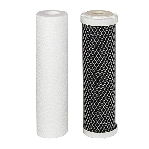 Juego de filtros de agua de repuesto para tres carcasas PP GAC CTO Finerfilters