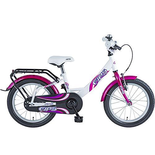 BBF Fips 16 Zoll Kinderrad Kinderfahrrad ab 4 Jahre Kinder Fahrrad ab 105 cm (violett/weiß)