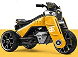 FEE-ZC Les Enfants de sécurité d'enfant montent sur la Moto, Moto de 3 Roues, Bicyclette de Moteur électrique de Tricycle pour Les Enfants 2-11 Ans, Batterie 12V, 3.8KM/H