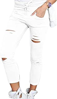 71ae7974e06 ISSHE Pantalones Rotos Mujer Pantalon Skinny Slim Mujer Jeggings Leggins  Push Up Señora Leggings Yoga Polainas