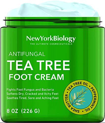 Tea Tree Oil Foot Cream for Dry Cracked Feet – Tea Tree Cream for Athletes Foot Fungus, Dry Cracked Skin, Nail Fungus, Ringworm, Jock Itch and Itchy Skin – Moisturizing Body Cream - 8 oz