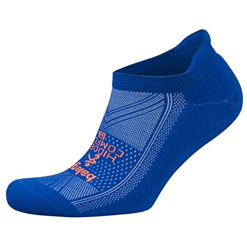 Balega Hidden Comfort No-Show Running Socks for Men and Women (1 Pair), Neon Blue, Medium