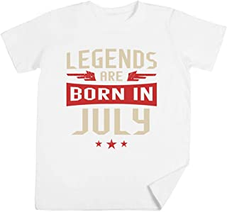 Legends Are Born In July Niños Unisexo Chicos Chicas Blanco Camiseta Kids Unisex T-Shirt