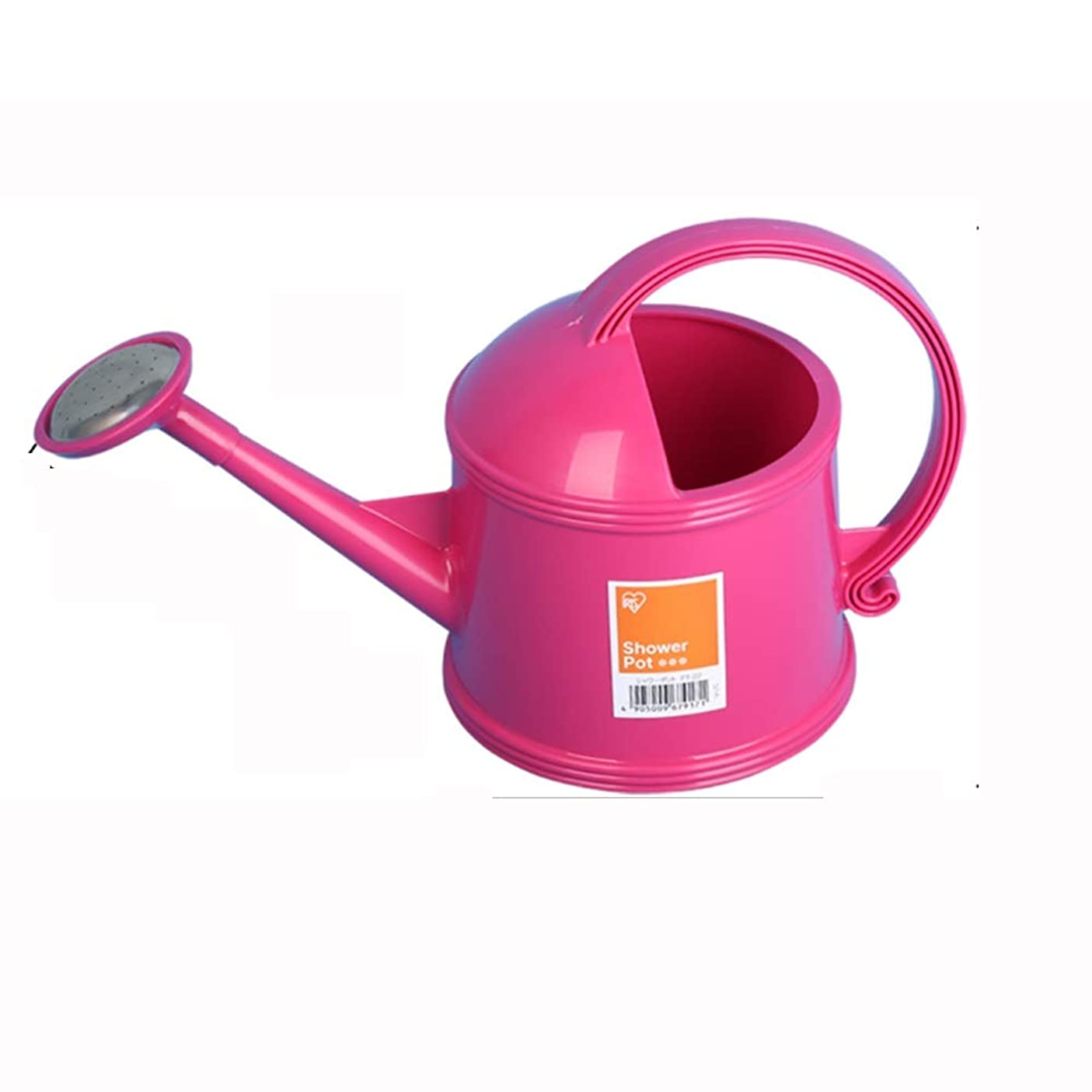 ブルジョンスコアこっそりDWFF 屋外の庭の水まきのためのじょうろでスプリンクラーヘッド - 大型プラスチックユニバーサルじょうろ、。教育の子供のための植物の水やりすることができます。缶はプラスチック水、スプリンクラー (Color : Pink, Size : 3.8L)