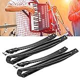 Correas de acordeón, accesorio de acordeón negro Correas ajustables cómodas y suaves para acordeón de bajos 16-120(44 * 8 * 5cm-negro)