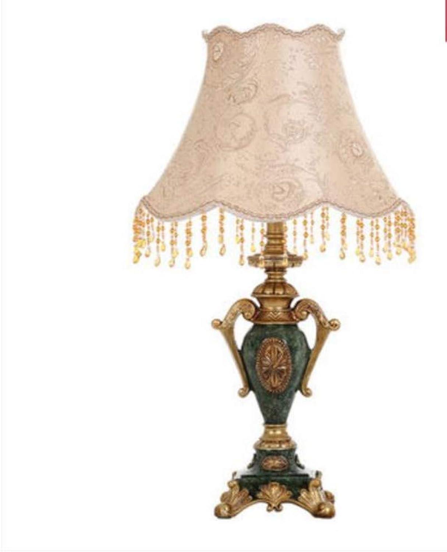 Retro einfache Harz des Tischlampen-europischen Luxuxlehnsteins fertigt klassische dekorative Tischlampe des Tischs auf