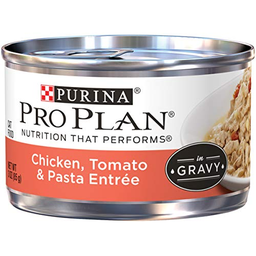 Price comparison product image Purina Pro Plan Gravy Wet Cat Food,  Chicken,  Tomato & Pasta Entree - (24) 3 oz. Pull-Top Cans