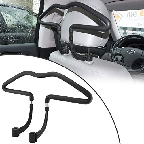 MidGard Autositz Kleiderbügel universal Kopfstützen Autositz Autokleiderbügel für Anzüge, Jacken, Mäntel usw.