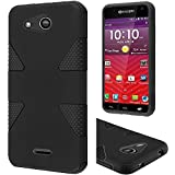 Luckiefind Case Compatible with Kyocera Hydro Wave C6740 / Air C6745, Dynamic Slim Rugged Hybrid Dual Layer Cover Case Accessories (Dynamic Black)