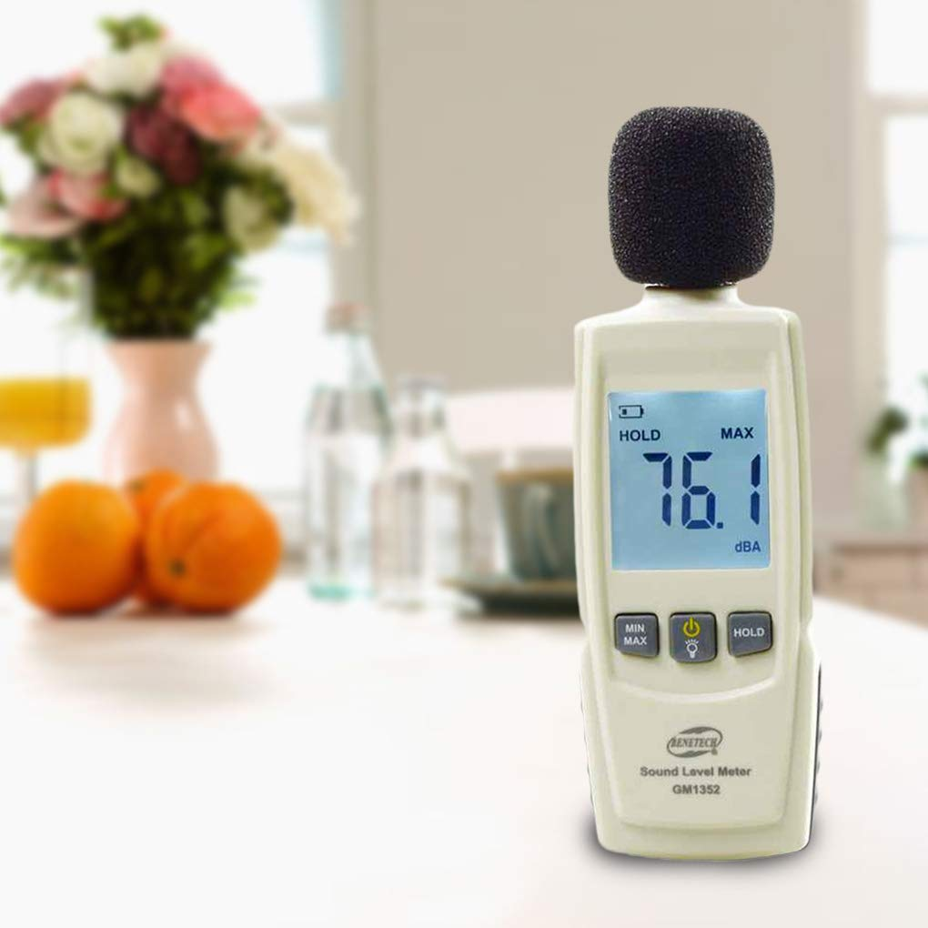 Zyj Digital Sound Level Meter 30-130dB Data Logger Sound Level Noise Decibel Diagnostic Tool Environment Decibel Tester