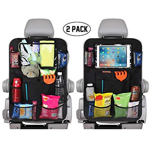 PowerTiger Auto Rücksitz Organisator 2pcs mit 12.7 Zoll Touch Screen Tablette Halter Multi Speicher Taschen, Rückenlehnenschutz für Kinder und Kleinkinder