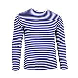 Camiseta Telnyashka del paracaidista militar ruso – rayas azules de manga larga Light Blue and White Stripes xx-large