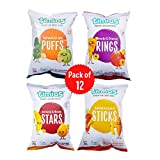 Timios Snacks Mix Flavours Pack of 12 | Banana and Honey -3, Carrot