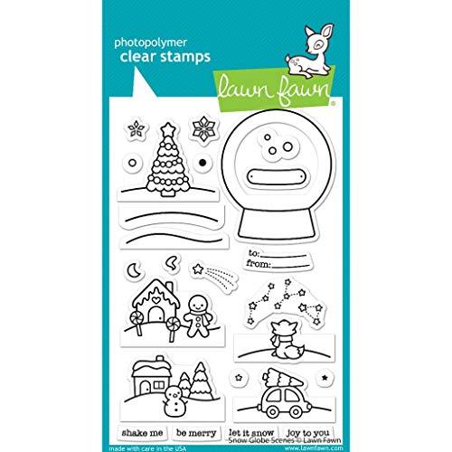 Lawn Fawn LF2427 Snow Globe Scenes 4X7 Clear Stamp Set