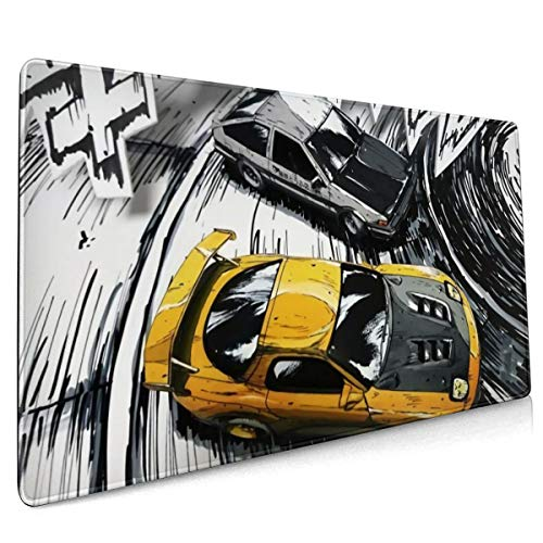 Initial D Anime Mouse Pad Extended XXL & Large Gaming Mat Protector Stickers 35.5 X 15.8 Inch (90x40 cm)