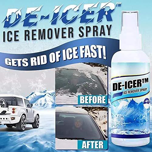 NNGT Spray de eliminación de Nieve de Invierno de Coche instantáneo para Ventanas de Parabrisas de Coche descongelación de Nieve derretida y Spray líquido removedor de Hielo