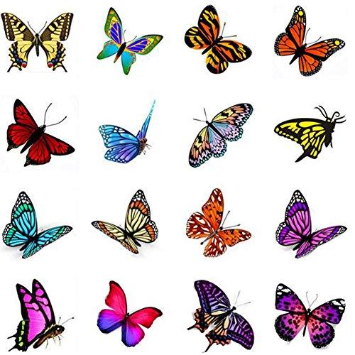Stickers hommes et des tatouages temporaires Femmes Waterproof Papillon-A389