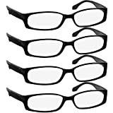 Reading Glasses 1.75 4 Black (4 Pack) F503 TruVision Readers