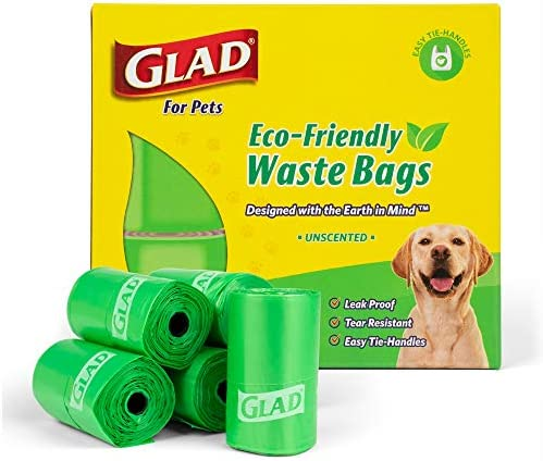 Glad Eco Dog Waste Bags 24 Rolls of Unscented Dog Waste Bags 360 Bags in Total Earth Safe Dog product image