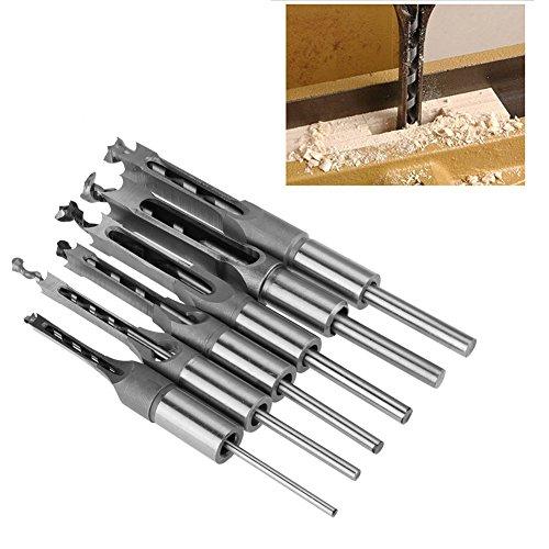 6 Stück Vierkant-Lochsägen-Schlangenbohrer-Satz Einsteckbohrmeißel Holzbearbeitungswerkzeug