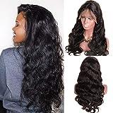 Ruiyu - Peluca de cabello humano virgen brasileño, sin pegamento, de encaje, cabello de...