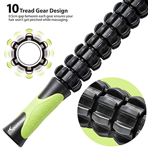 Sportneer Muscle Roller Massage Stick for Athletes,Deep Tissue Body Massage Stick Tools,Calf Roller, Back Leg Massager for Sore Muscle Pain Relief & Recovery, Cramping,Tightness,Soothing Cramp
