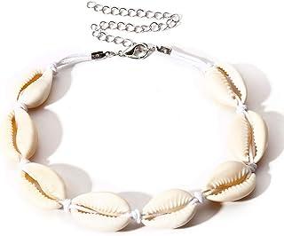 Delleu Natural Cowrie Perlas Concha Tobillera Pulsera Hecha a Mano Playa de pie joyería Estilo Hawaiano Ajustable para Las Mujeres
