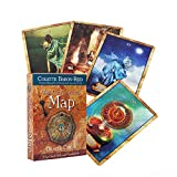 The Enchanted Map Oracle Cards English Edition Mysterious Tarot Cards Divination Fate Tarot Deck Board Game Cards Family Party Fun Cards Games