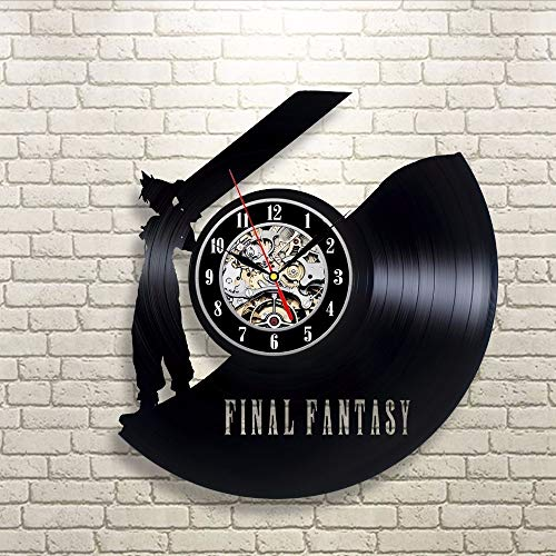 txyang Vintage Vinyl Wall Clock Fan Gift Children's Room Decor Idea Home Art Party12 Inch