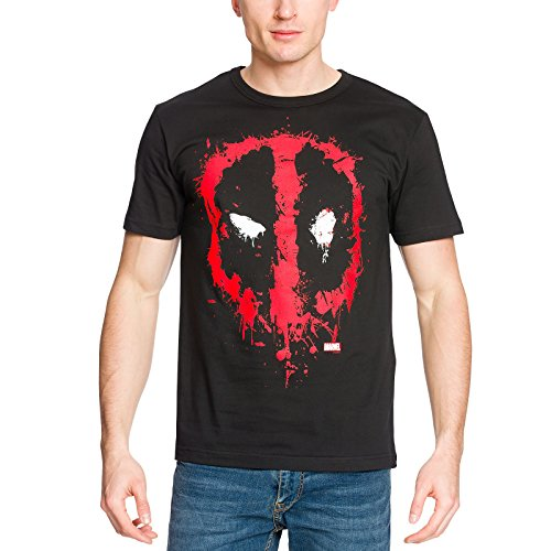 Deadpool Camiseta Oficial Happy Face Negro