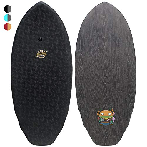 Skim Board-48 Pro-Series Skimboard (The Skimburger) for Intermediate to Experienced Skimboarders with Lightweight EPS Closed-Cell Foam Core, Wax-Free Soft Top, and Wooden Decks