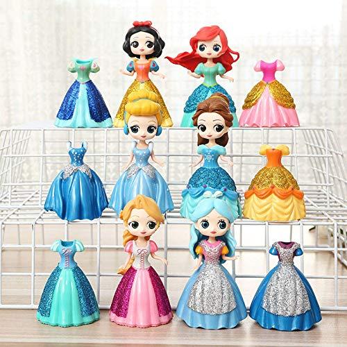 Mbdyvv Las muñecas Aisha y Anna de la Serie Frozen, Las muñecas Queen Aiduna y los Juguetes Xuebao, inspirados en 2 películas