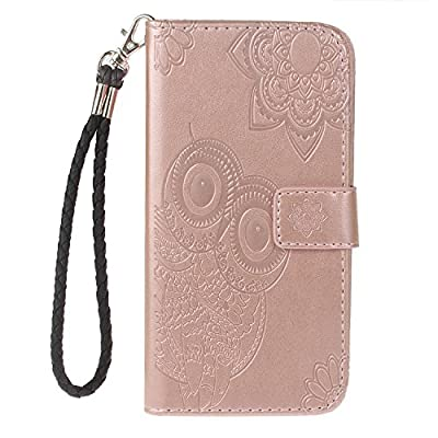 Leather Wallet Case for Galaxy J3 V PU Leather Magnetic Flip Cover with Card Slots Holders Bookstyle Wallet Case for Samsung Galaxy J3 2016/Express Prime/Amp Prime - JEYK010341 Rose Gold