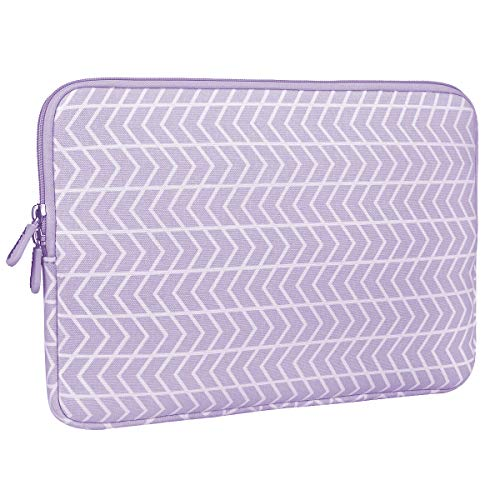 Aucase Laptop Sleeve Case for Notebook Tablet, Thickest Lightest Neoprene Water Repellent Protective Travel Bag (13-14 inch, Chevron Purple)