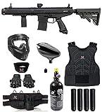 Maddog Tippmann Stormer Elite Dual Fed Protective HPA Paintball Gun Marker Starter Package - Black