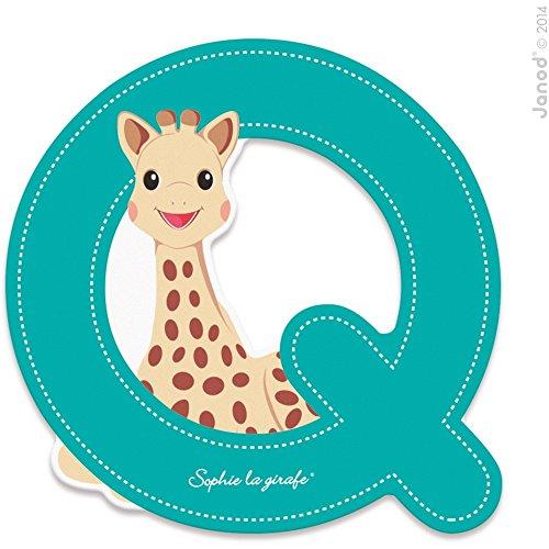 Janod Lettre série Sophie La Girafe - bois - Q - J09561 - , multicolore - 1 - version espagnole