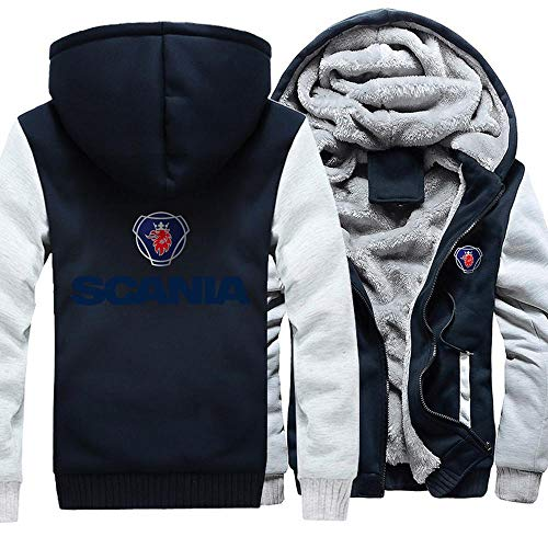 Unisex Hoodies Jacken- Scania Beiläufige Winter-mit Kapuze Warm Zip Langarm-Sweatshirt Drucken 2-L