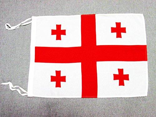 AZ FLAG Flagge GEORGIEN 45x30cm mit Kordel - GEORGISCHE Fahne 30 x 45 cm - flaggen Top Qualität