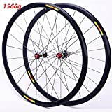 MZPWJD 28 Pollice Set di Ruote da Bici da Corsa 700C, Doppio Muro Ibrido in Lega a sgancio rapido V/C-Brake Compatibile 8 9 10 11 velocità (Color : Black)